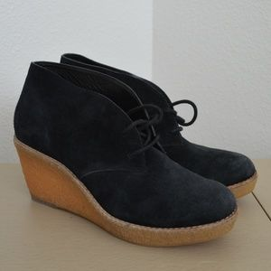 Cole Haan HALLEY Suede Chukka Ankle Booties Boots